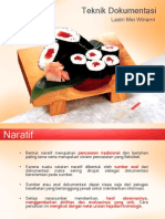 Teknik Dokumentasi Naratif & Flowsheet