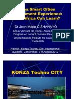 China Smart City Development Experience_Konza Investment 2012