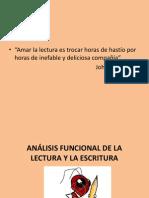 ANÁLISIS FUNCIONAL DE LA LECTURA Y LA ESCRITURA