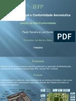 Inspecção Visual e Conformidade Aeronautica