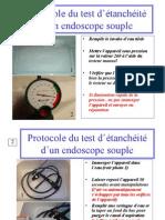 Protocole du test d'étanchéité d'un endoscope souple