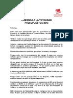 Enmienda totalidad pgcm2013