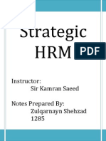 Strategic HRM-Lesson 0