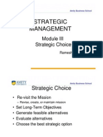 Strategic Choice – Traditional Approach