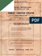 Dunlap Paint Sprayer Manual Model 73018450