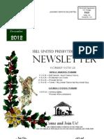 Newsletter December 2012