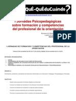 I Jornadas COPOE Formación y competencias Profesional de Orientación - Madrid - Nov. 2012
