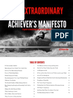 The Extraordinary Achiever's Manifesto