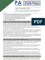 2012-12-07 IFALPA Daily News
