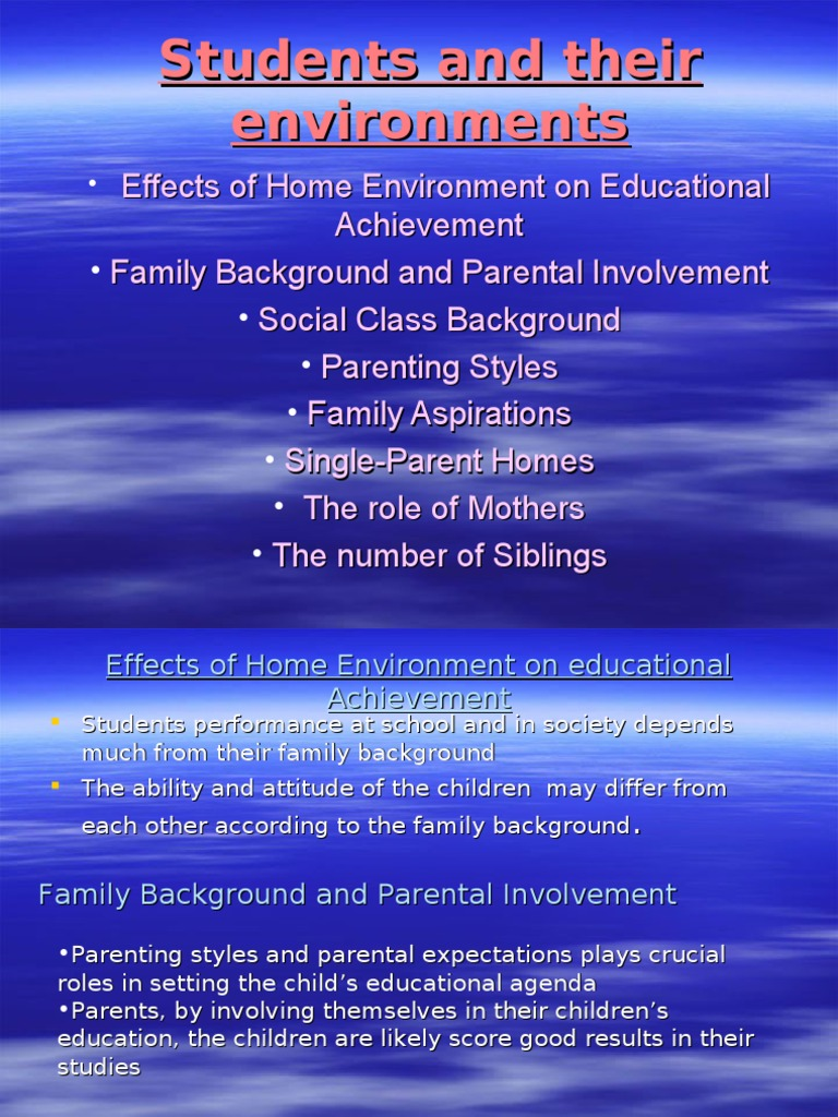 effects of single parent homes on education