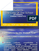 EDU 453 Students, The Core of the School Ch 7