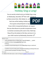 BEACON HOLIDAY SING-A-LONG FOR BEACON FAMILY AND FRIENDS!