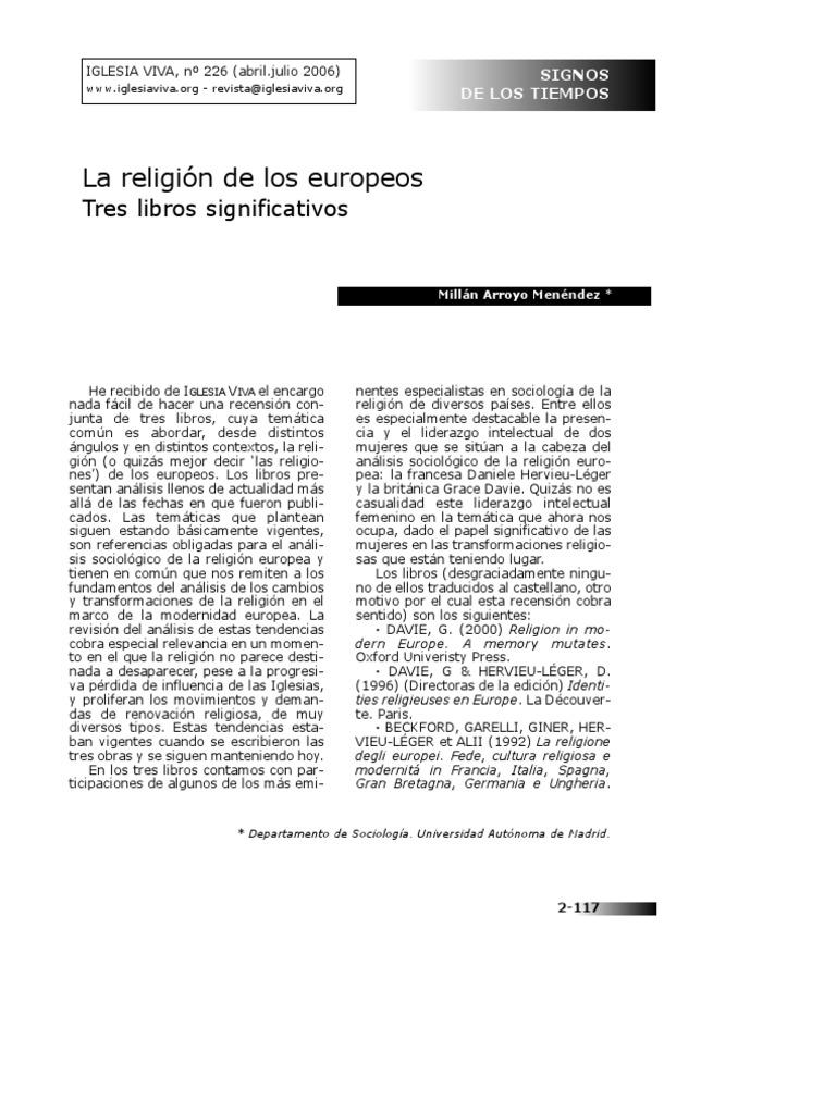 La Religion de Los Europeos 226-41-SIGNOS