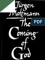 The Coming of God - Jurgen Moltmann