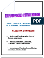 Software Engineering Term Paper on Function Oriented Design