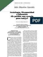 Tecnologìa, discapacidad y educa