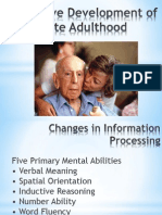 Cognitive Development of Late Adulthood- Pharcare