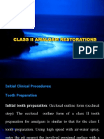 Class II Amalgam Restorations