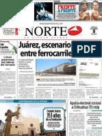 Periodico Norte de Ciudad Juárez 8 de Diciembre de 2012