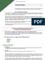 Princípios da Administração Pública - Art 37