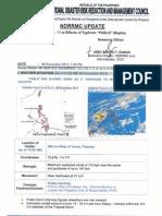 NDRRMC Sitrep Typhoon Pablo