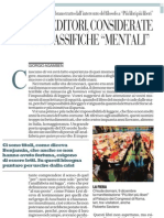 Sulla difficoltà di leggere di Giorgio Agamben - Repubblica 08.12.2012