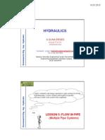 Hydraulics Lesson 5