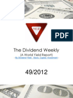 Dividend Weekly Stock Report 49/2012 By http://long-term-investments.blogspot.com