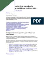 Cómo comprobar la ortografía y la gramática en otro idioma en Word 2003
