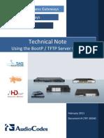 LTRT-30500 BootP Technical Note Ver. 6.2
