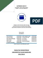 Laporan Case 9 Kelompok e Cleft Lip & Palate