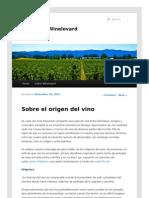Sobre el origen del vino