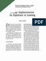 Argyris Strategy Implementation