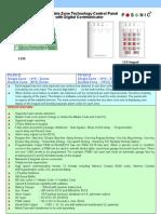 Posonic HomeAlarm EX10 & EX18 Flyer