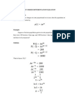 Application of First Order Differentation Equation
