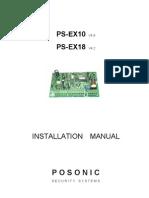 Posonic HomeAlarm EX10 & EX18 Installation Manual - Rev1.0
