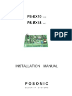 Posonic HomeAlarm EX10 & EX18 Installation Manual - Rev1.0