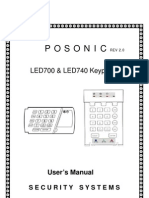 Posonic HomeAlarm PS-LED700, PS-LED740 User Manual - Rev2.0