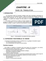 CHAPITRE 3 - Guidage en Translation