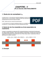 CHAPITRE 5 - Calcul Des Roulements