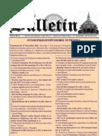 Synod 2012 Bulletin (Dec. 8)
