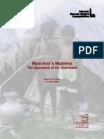 Myanmar Muslim Oppressed