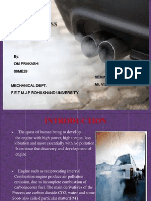 seminar ppt on pollution less engine | Internal Combustion Engine