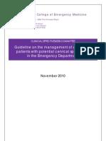 CEM5718 Cervical Spine Full Guideline