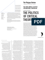 The Politics of Critical Theory