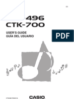 Manual Teclado Casio CTK-496 CTK-700