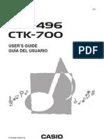 Manual Teclado Casio CTK-496 CTK-700