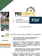 Procompite Ley 29337