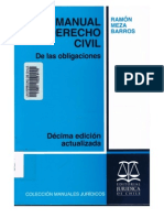 Meza Barros - De las obligaciones (10° ed.)