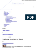 Residencias de Ancianos en Madrid